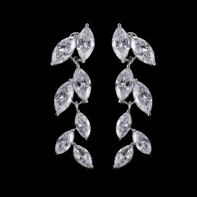 Crystal Foliage Drop Earrings