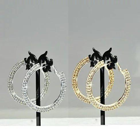 ETERNITY EVER GLOW - Double Shine Hoop Earrings Crystal - VistaShops - 1