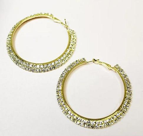 ETERNITY EVER GLOW - Double Shine Hoop Earrings Crystal - VistaShops - 4