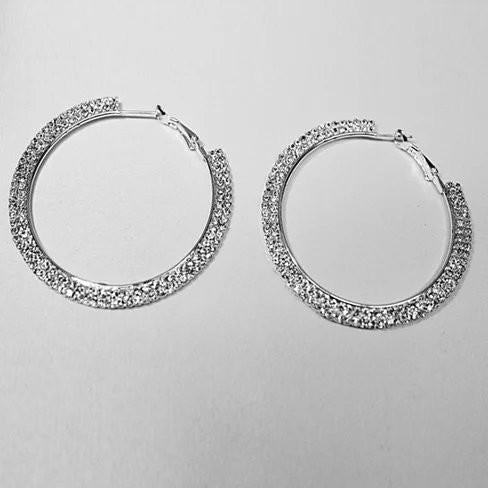 ETERNITY EVER GLOW - Double Shine Hoop Earrings Crystal - VistaShops - 5