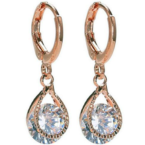 Diamond Drops Colorful Hoop Earrings In Rose Gold And Silver polish