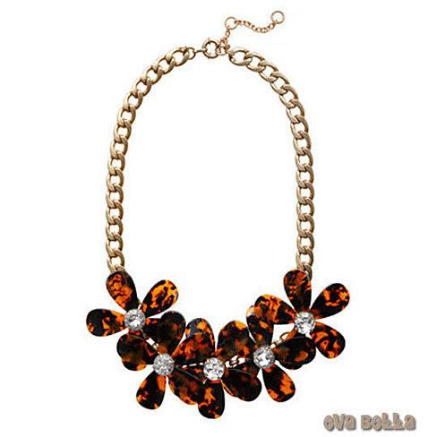 Flowers in Bloom - Our Tortoise Shell color Necklace - Get the matching Bracelet too - VistaShops - 1