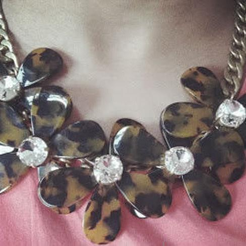 Flowers in Bloom - Our Tortoise Shell color Necklace - Get the matching Bracelet too - VistaShops - 2