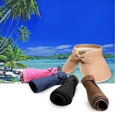 Sun Hut Straw Hat Cool And Foldable - VistaShops - 3