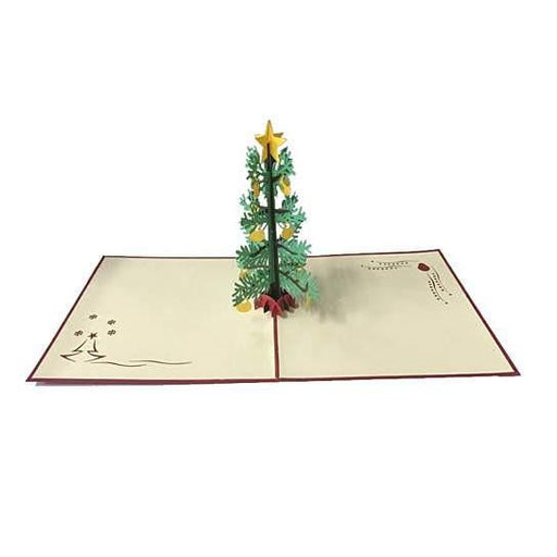 3D Christmas Tree with Ornaments Greeting Card Memories Treasured Forever