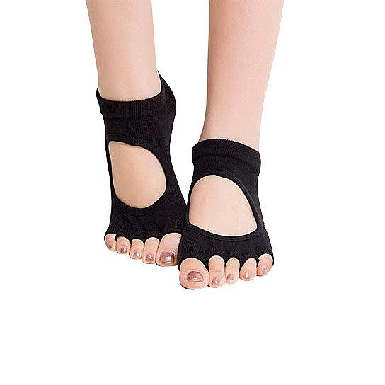 Peep Toe Yoga Socks 3 Pair Pack