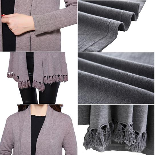Cozy Cozy Cardigan Along With Tasseled Trim