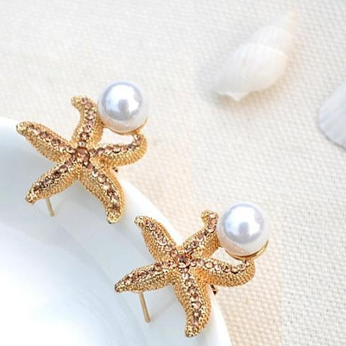Gifts from the Sea - Starfish Pearl Earrings - VistaShops - 1