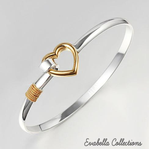 Hold My Heart - Gold and Silver Polished Bracelet - VistaShops
