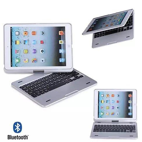 iPad Air or Mini Swiveling Hard Case With Bluetooth Keyboard - VistaShops - 1