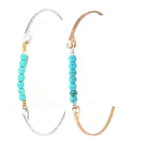 Holiday Fashion Bracelets In Turquoise and Pearls - VistaShops - 1