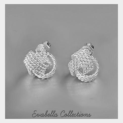 Knotty And Nice - The Knotted Rope Earrings in Silver - VistaShops