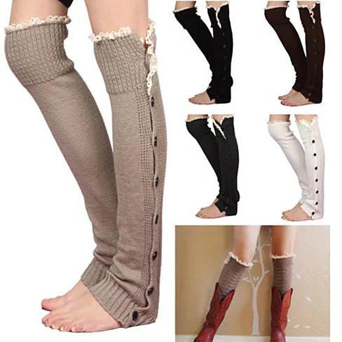 Lacy Legs - Lounge in Delicate and Cozy Lacy Socks - VistaShops - 3