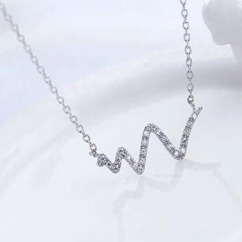 Life Line Necklace in Sterling Silver - VistaShops - 1