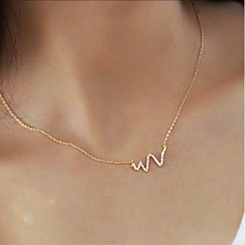 Life Line Necklace in Sterling Silver - VistaShops - 2