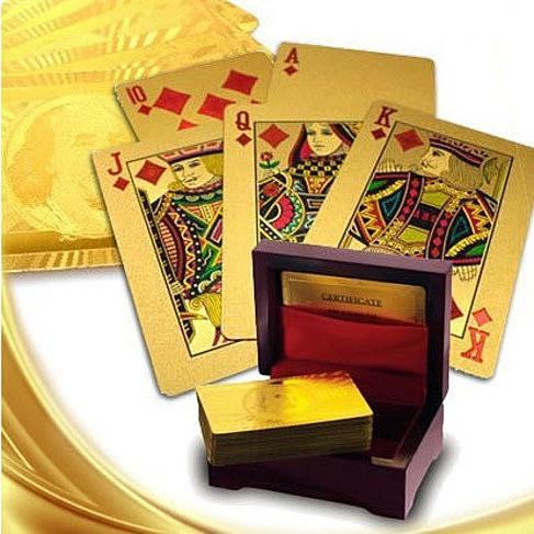 Our WIN! WIN! 24 kt Gold or Silver Plated playing cards in a laminated Jewel box - VistaShops - 2
