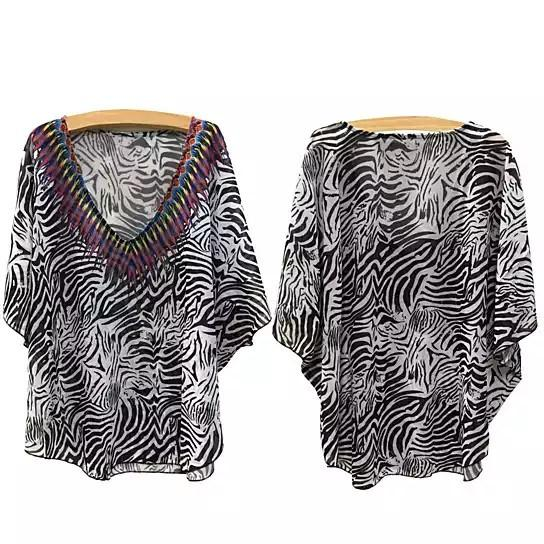 Wild Zebra Beach Coverup And Top