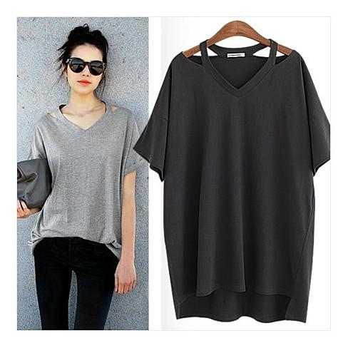 Cut Out To Lounge Short Sleeve Top Std and Plus Sizes - VistaShops - 3