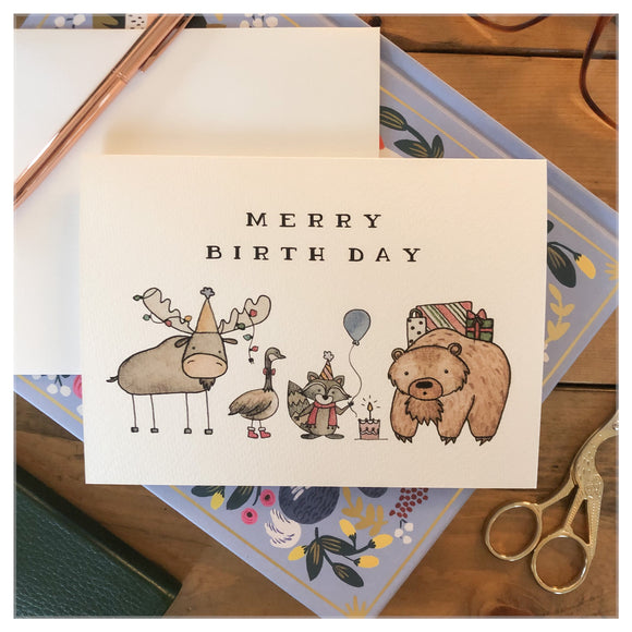 Merry Birthday Card
