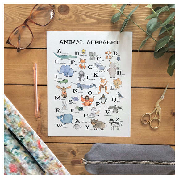 Animal Alphabet Wall Print