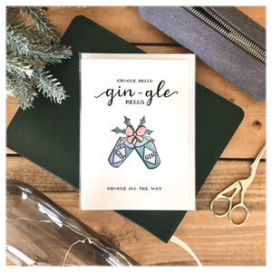 Gin-gle Bells Holiday Card