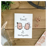 A Toast To The Newlyweds Card - Bride and Groom Toast