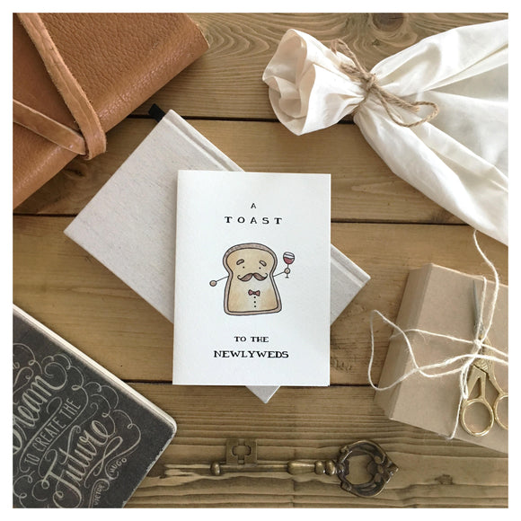 A Toast To The Newlyweds Card - Single Toast