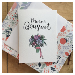 Merci Bouquet Card