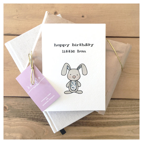 Hoppy Birthday Little Bun Card