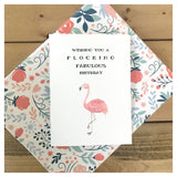 Wishing You A Flocking Fabulous Birthday Card