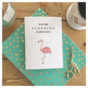You're Flocking Fabulous Card