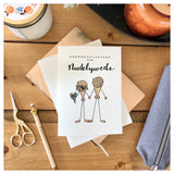 Congratulations To The Nudelyweds Card