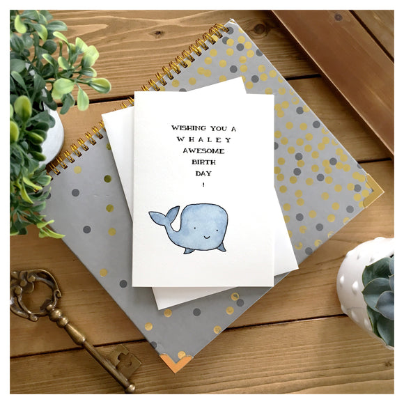 Wishing You A Whaley Awesome Birthday Card