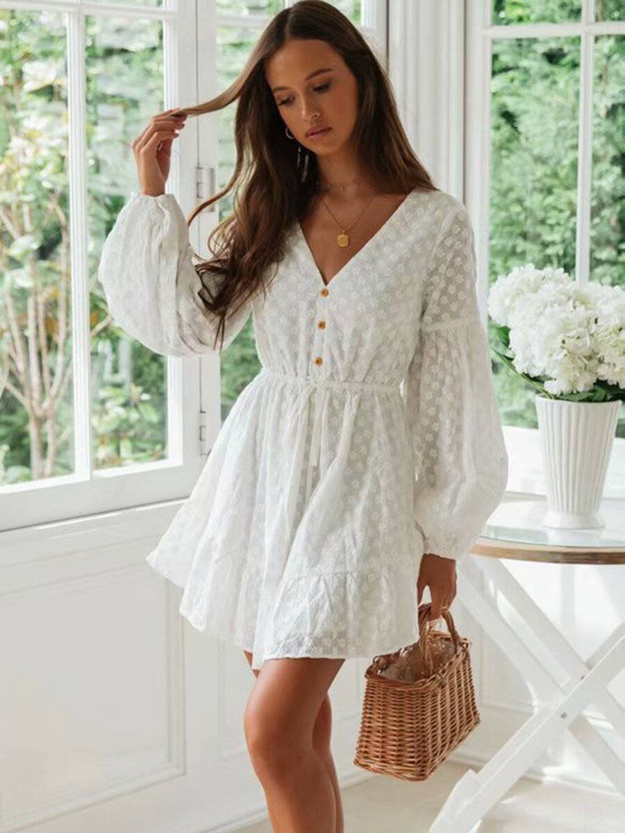 Robe Hippie Chic Écru