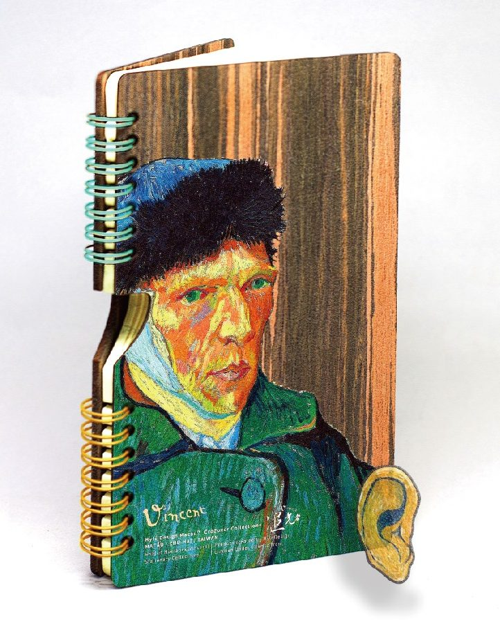 HOLD-it  x VanGogh Wooden Notebook set (notebook+refill pad)