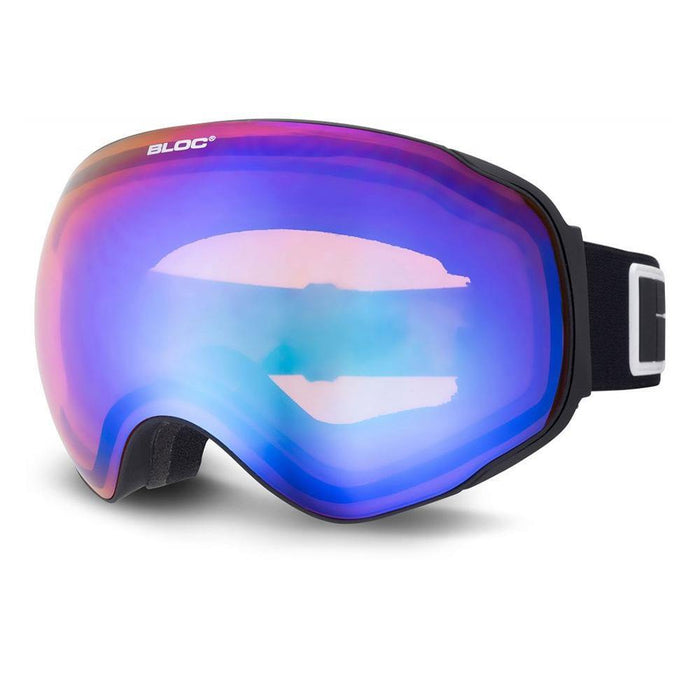 Bloc Goggles Matte Black / Orange Blue Bloc Evolution Ski Goggle 5038163018896 EO8