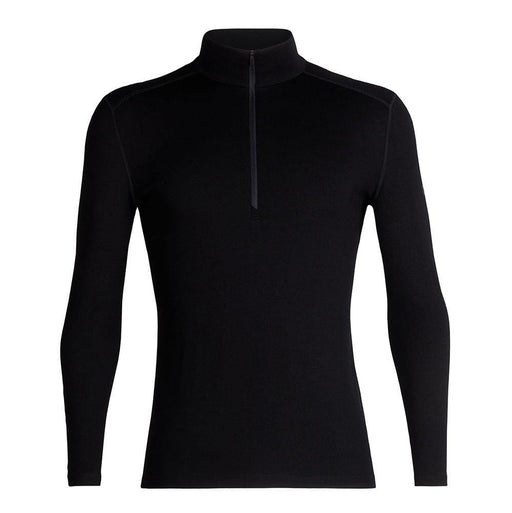 Icebreaker Base Layers Black / Medium Icebreaker Mens 260 Tech LS Half Zip Top 9420058527891 104372