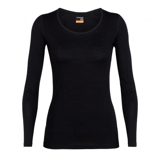 Icebreaker Base Layers Black / X-Small Icebreaker Ladies 200 Oasis crewe 9420058528423 104375