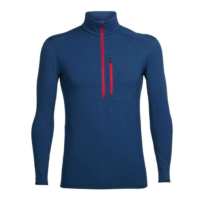 Icebreaker Base Layers Largo / Rocket / XX-Large Icebreaker Descender Mens LS 1/2 Zip Top