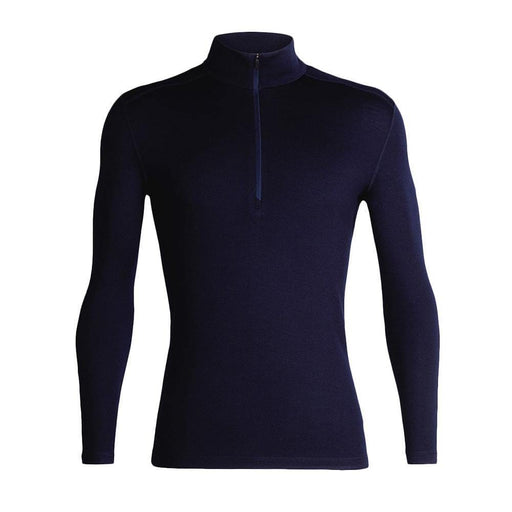 Icebreaker Base Layers Midnight Navy / Large Icebreaker Mens 260 Tech LS Half Zip Top 9420058528034 104372