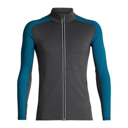 Icebreaker Base Layers Monsoon / Alpine / Medium Icebreaker Quantum Mens LS Zip 9420058514686 104055