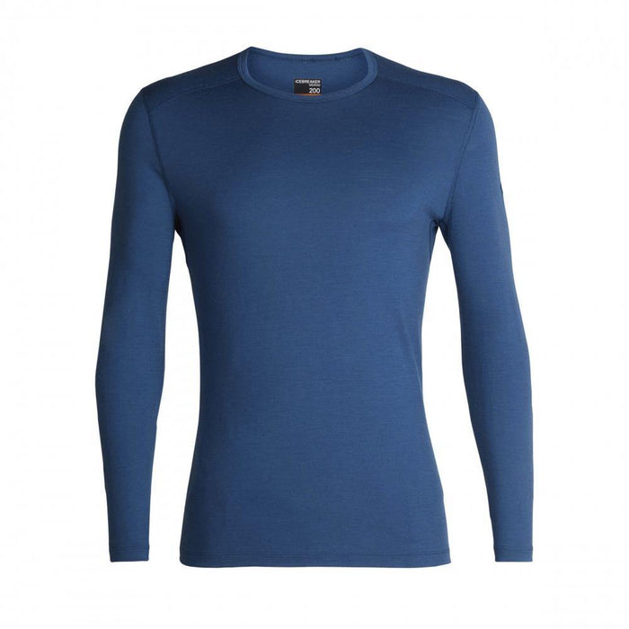 Icebreaker Base Layers Prussian Blue / Small Icebreaker Mens 200 Oasis LS Crewe 9420058526658 104365