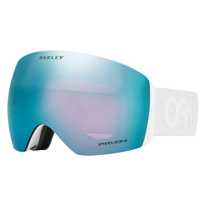 Oakley Goggles Factory Pilot Whiteout / Prizm Sapphire Oakley Flight Deck Ski Goggle 888392171849 OO7050-37