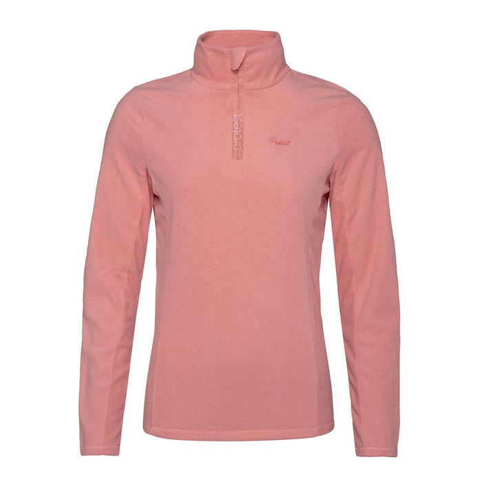 Protest Mid Layers Baby-Pink / X-Small Protest Ladies Mutey 1/4 Zip Fleece Top 8718025984237 3610300