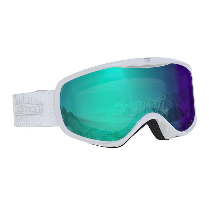 Salomon Goggles White / All Weather Blue Photochromic Salomon Sense Photo White Ski Goggle 889645656113 L40518400
