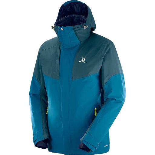 Salomon Jackets Moroccan Blue / Small Salomon IceRocket Mens Ski Jacket 889645730592 40419200