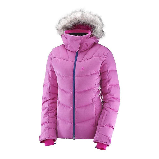 Salomon Jackets Rose Violet / X-Small Salomon IceTown Ladies Ski Jacket 17 889645383781 397756