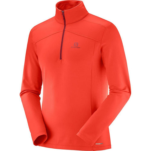 Salomon Mid Layers Fiery Red / Small Salomon Discovery Light Half Zip Mens Top 889645724234 40403700