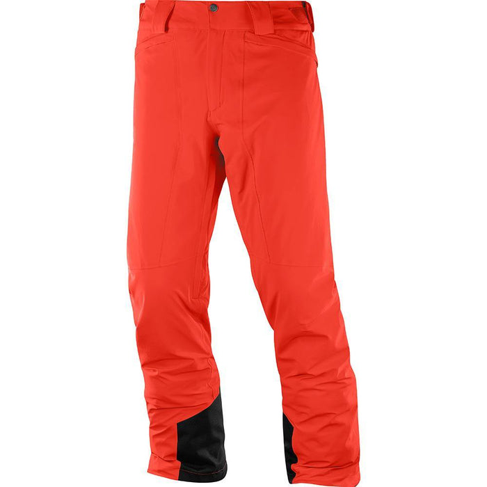 Salomon Pants Fiery Red / Small Salomon IceMania Mens Ski Pant 889645737799 1004200