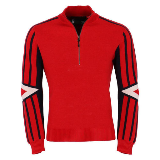 Spyder Mid Layers Red/Wht/Fro / Medium Spyder Rad Pad Mens 1/2 Zip Sweater 889212769819 417112